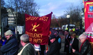 Labour members march on November 30